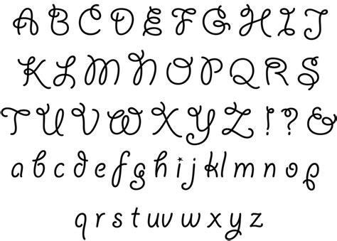 15 pretty fonts alphabet images cute letter fonts