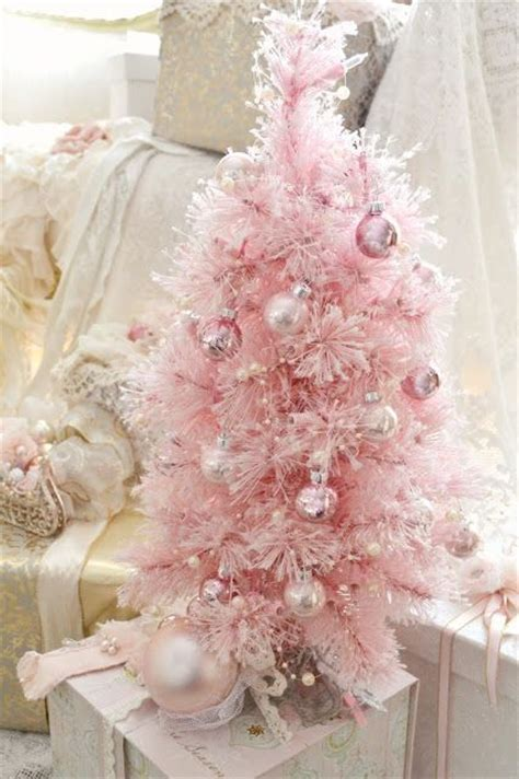 pink ornaments tree 27 glam pink d 233 cor ideas shelterness