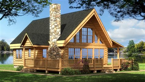 Cabin Style Home Plans Log Cabin House Plans Rockbridge Log Home Cabin Plans Back Deck And Place For Deck