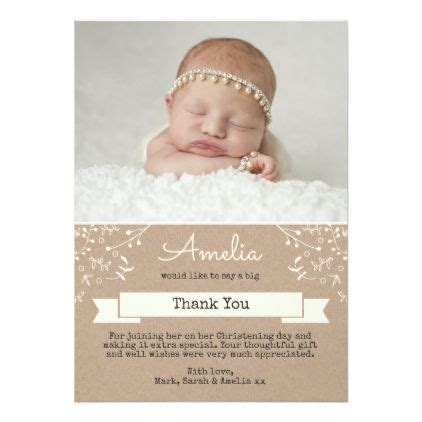 customized invitation card for christening best 25 christening thank you cards ideas on pinterest