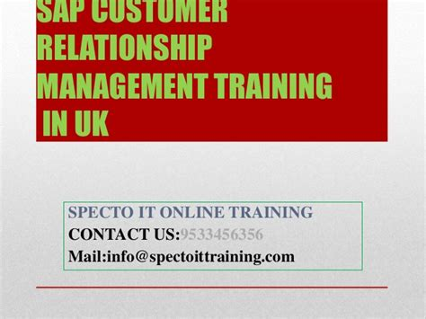 Customer Relationship Management Ppt For Mba by Sap Customer Relationship Management In Uk