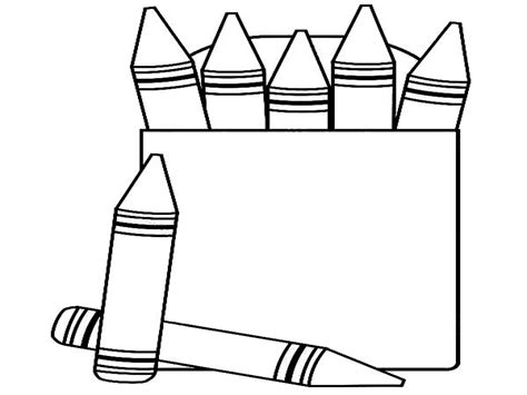 color crayons coloring pages   color