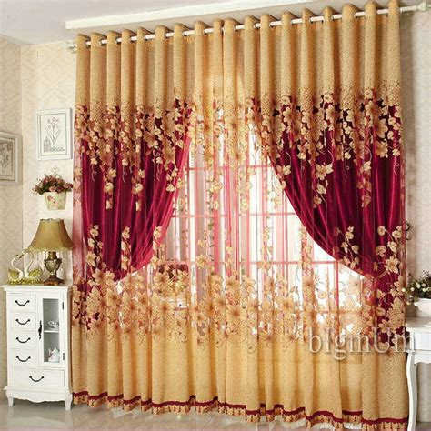On sale curtains luxury beaded for living room tulle blackout curtain window treatment drape
