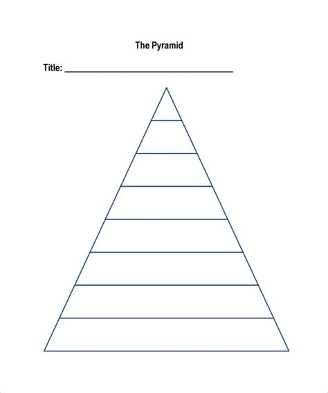 Blank Chart Templates 8 Download Free Documents In Pdf Hierarchy Pyramid Template
