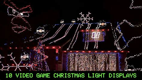 holiday lights and movie sites 10 video game christmas light displays craveonline