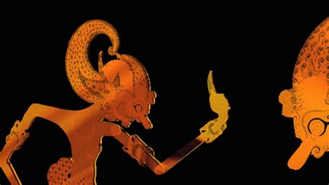 background wayang abstract cgi motion graphics and animated background with