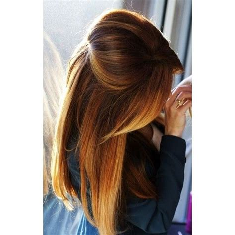 blonde hairstyles polyvore brown to blonde ombre long straight hair found on polyvore