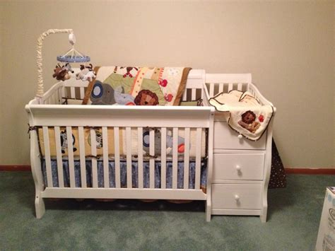 Baby Bed With Attached Changing Table Black Baby Cribs With Changing Table Attached Www Imgkid The Image Kid Has It