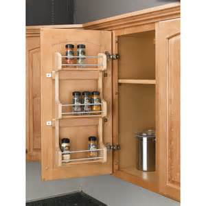 Door Spice Racks Shop Rev A Shelf Wood In Cabinet Spice Rack At Lowes Com