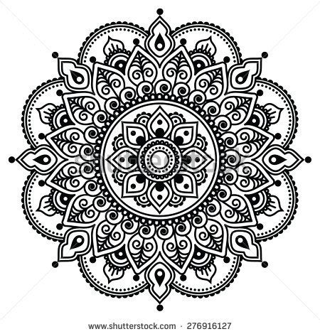 henna tattoo hand schablone zum ausdrucken mehndi indian henna pattern background stock vector