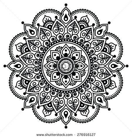 henna tattoo hand schablone zum ausdrucken mehndi indian henna pattern background stock vector