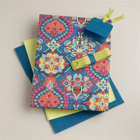 Handmade Fabric Gifts - moroccan tiles handmade fabric gift box kit world market