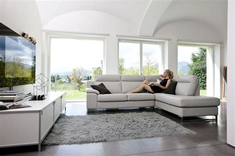 sofa mit ottomane italian leather sectional set with optional footrest