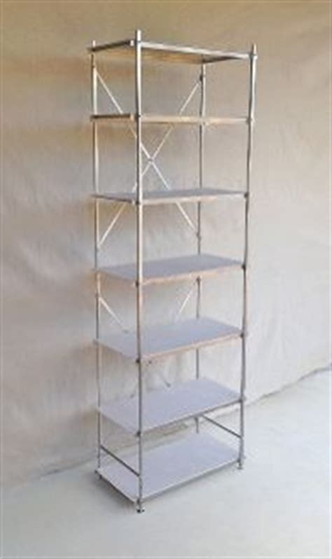 six foot aluminum shelving unit 24 inches wide and 12