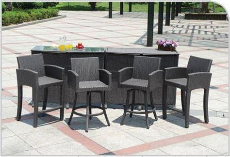 Patio Furniture Bar Sets Contemporary Outdoor Bar And Patio Furniture Set The Interior Design Inspiration Board