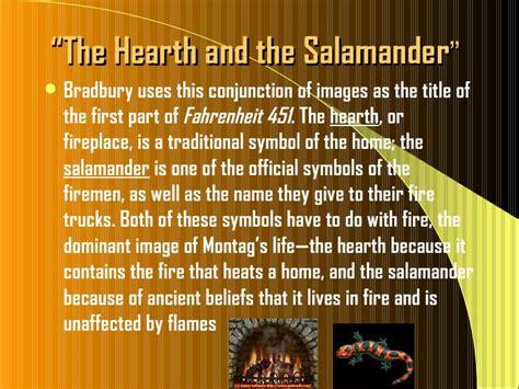 theme of fahrenheit 451 the hearth and the salamander fahrenheit 451