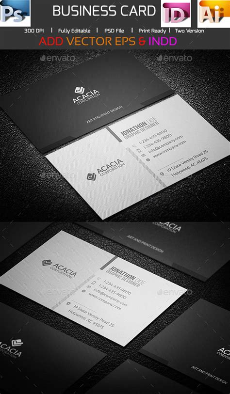 indesign business card templates 15 premium business card templates in photoshop