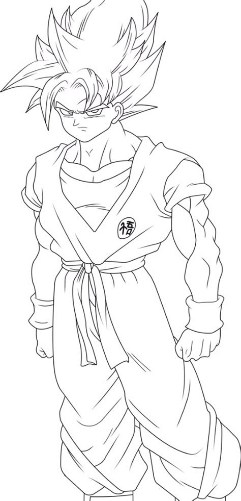 young goku coloring pages goku coloring pages