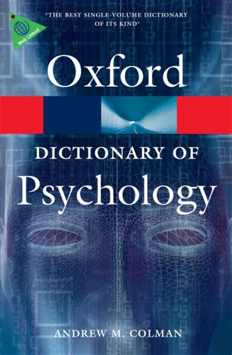 the dictionary of psychology books matthewsbooks 9780199534067 0199534063