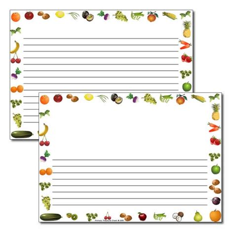 vegetables 5 lines fruit and vegetables themed landscape page border writing