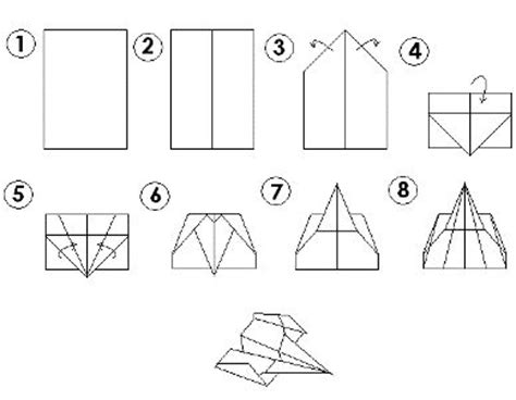 How To Make The Fastest Paper Airplane Step By Step - 18 best paper airplanes images on paper