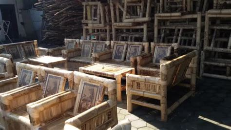 Kursi Bambu Lincak mebel bambu gentan tembus pasar luar negeri warta nasional