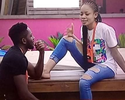 quickie in the bathroom bbnaija s miracle and nina caught having a quickie in the