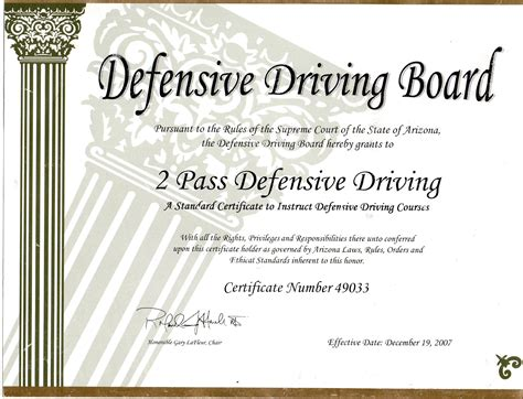 15 safe driving certificate template home www