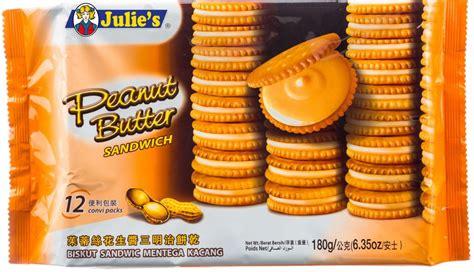 Biskuit Mentega Julie S Butter Crackers peanut butter sandwich julie s
