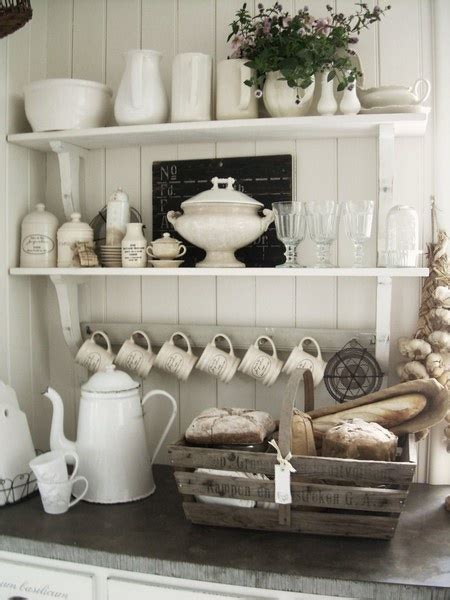 Pretty Kitchen Display | kitchen wall shelves for dishes such a pretty display for