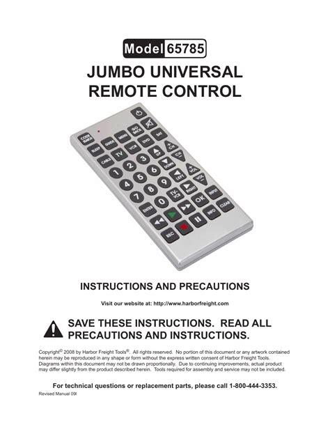Jumbo Universal Remote Manual