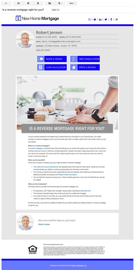 Mortgage Leads From Automated Social Email Marketing Caigns Loan Officer Email Templates