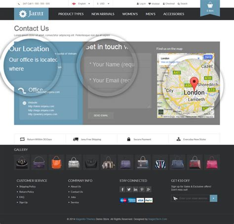 magento contact us map janu responsive multi purpose theme magento connect
