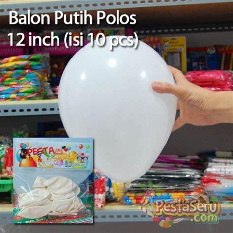 Kertas Balon Udara 40 Cm balon doff putih 12 inch isi 10 pcs pestaseru toko grosir perlengkapan pesta