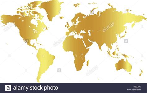 color world golden color world map on white background globe design