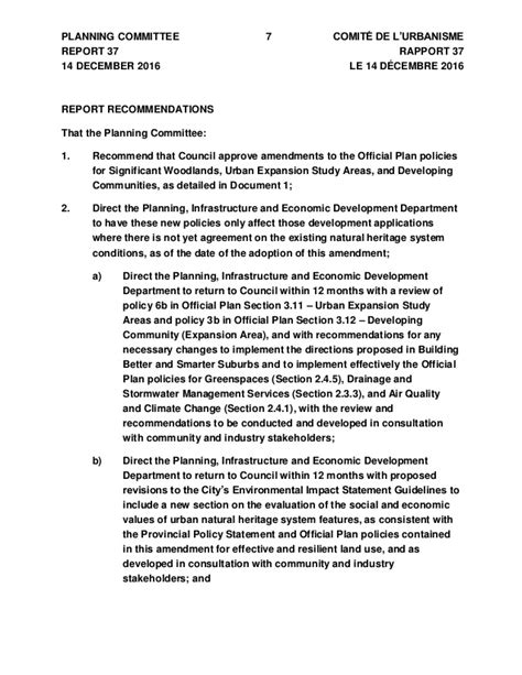 Official Plan Amendment - Significant Woodland Policy