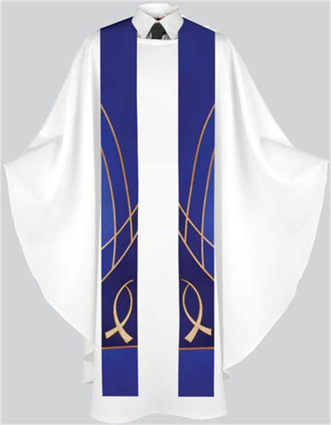 Liturgical Stoles Handmade - liturgical stole fish design