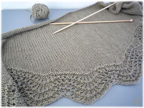 feather wool knitting patterns fan and feather shawl to knit version is