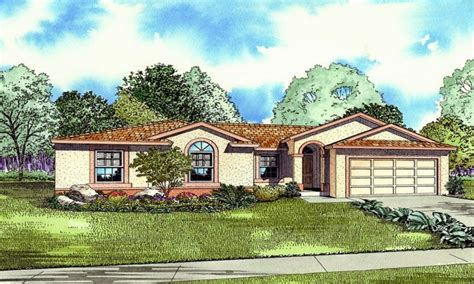 Single Story Mediterranean House Plans by Rosa Story Translation Style One Story