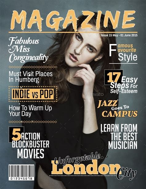 magazine cover template indesign magazine cover template indesign by javismum graphicriver