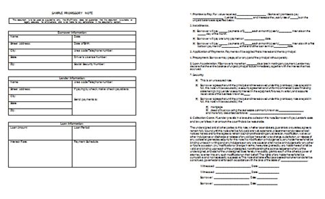Promissory Note Template Templates For Microsoft 174 Word Free Promissory Note Template Word