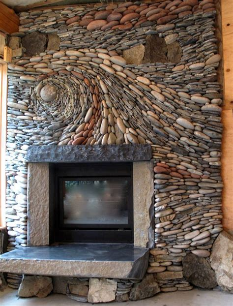 Stones Fireplace by 20 Amazing Fireplace Designs