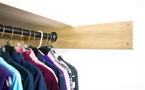 How High To Hang Closet Rod by Easy Closet Space Solutions On A Budget Paint Yourself A