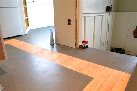 painting wood floors a home in the making renovate how to paint a kitchen floor