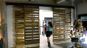 Repurposed Barn Wood Reclaimed Wooden Pallet Sliding Doors Youtube