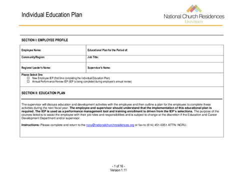 educational development plan template educational plan template pertamini co