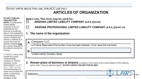 llc articles of organization template template design