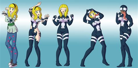 anime body transformation stacie to she venom by vytz on deviantart