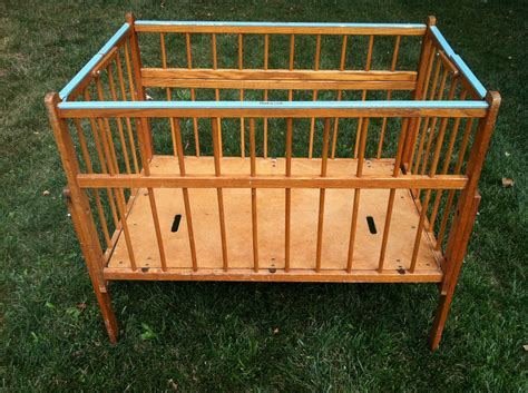 Vintage Cribs For Babies Vintage Wood Portable Crib By Port A Crib