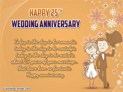25th Wedding Anniversary Wishes Messages by 25th Wedding Anniversary Wishes Messages And Wordings